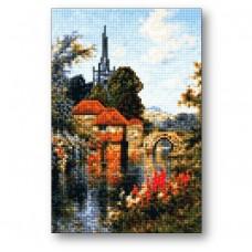 Старинный замок 20х30см Алмазная мозаика на пенокартоне