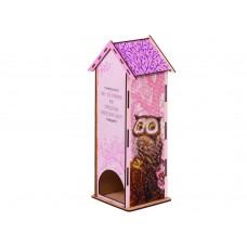 Чайный домик Гранни Wood «Совушки», 12х10х28 см (частичная/квадр.)