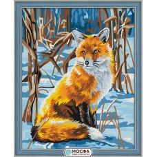 Картина по номерам Мосфа «Лисица на снегу» 40х50 см