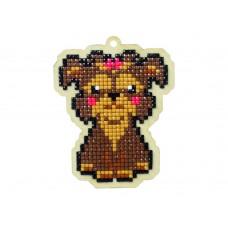 Подвеска Гранни Wood «Собака леди», 7,5х9,8 см (полная/квадр.)