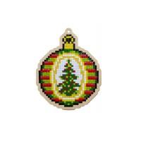 Подвеска Гранни Wood «Рождественский шар», 9,1х11,3 см (полная/квадр.)