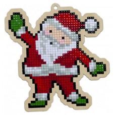 Подвеска Гранни Wood «Санта Клаус», 10,8х11,2 см (полная/квадр.)