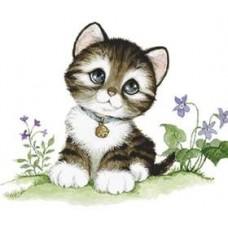 "Картина стразами ""Малыш-котенок"""