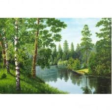 Картина стразами «Лесная река»