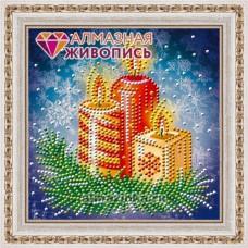 """Картина стразами """"Новогодние свечи"""""""