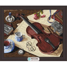 "Картина по номерам ""Уроки музыки"""