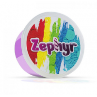 Кинетический пластилин Zephyr Скромная Осьминожка - фиолетовый в баночке